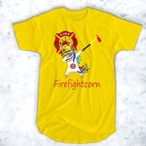 Unicorn dabbing firefightcorn T-Shirt for Men and Women